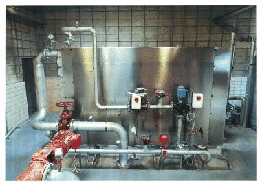 Sludge/water heat exchangers