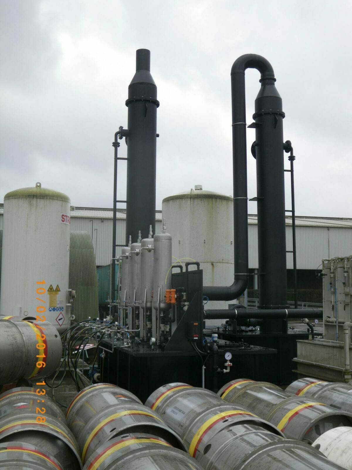 Ethylen oxide gas scrubber