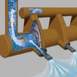 aération à jet slot injector